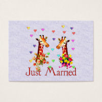 Wedding Giraffes Business Card