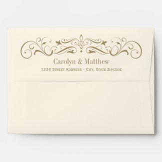 Wedding Invitation Envelopes Antique Flourish