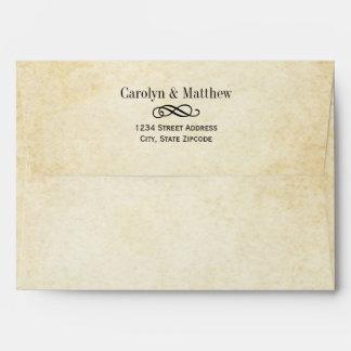 Wedding Gold Edgepainting Etching Letterpress Envelope Your Invitation