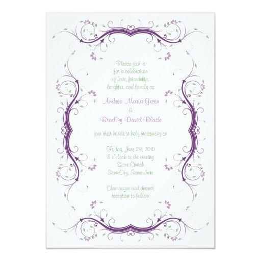 Custom Wedding Invitations Zazzle