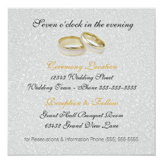 Wedding Invitation Two Grooms Silver Damask