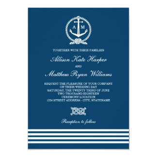 Read More Nautical Knot Beach Wedding Invitations
