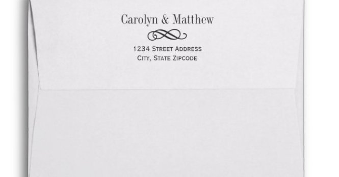 Return Address For Wedding Invitations Use Some Captivating Accessorieake Your Own Invitation 14