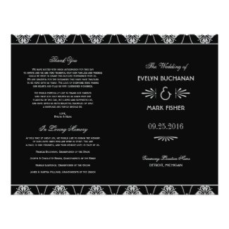 "Wedding Programs | Art Deco Style 8.5"" X 11"" Flyer"