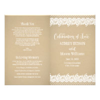 Wedding Programs | Lace and Kraft 8.5