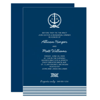Custom Designed Nautical Themed Wedding Invitations Se Or Ora