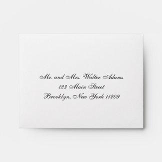 Wedding Rsvp Card Envelop Invitation Envelope