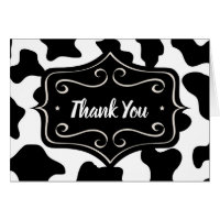 Wedding Thank You Cards - Cow Print