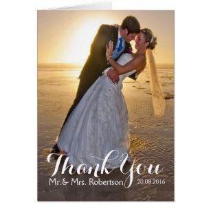 Wedding Thank You Note Cards | Zazzle