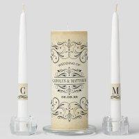Wedding Unity Candle Set | Vintage Flourish | Zazzle