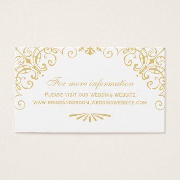 Wedding Website Card | Art Deco Style