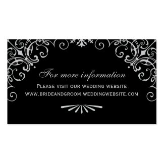 Wedding Website Card | Art Deco Style Double-Sided Standard Business Cards (Pack Of 100)