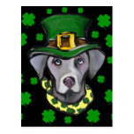Weimarana ST Patty Postcard