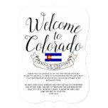 Welcome to Colorado | Destination Wedding Custom Invitation