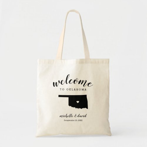 Welcome to Oklahoma | State Silhouette Wedding Tote Bag