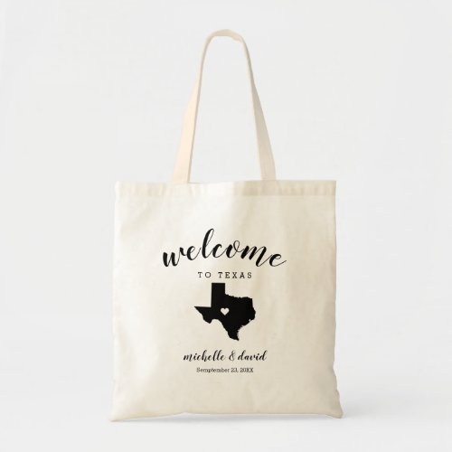 Welcome to Texas | State Silhouette Wedding Tote Bag