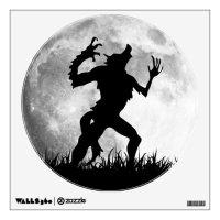 Werewolf Full Moon Transformation - Horror Wall Decal ...