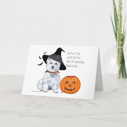 West Highland White Terrier Halloween Card