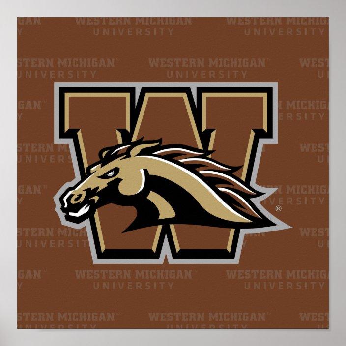 western michigan university watermark poster zazzle com