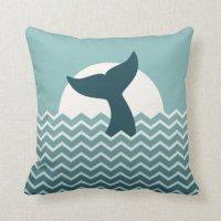 Whale Tail Throw Pillow | Zazzle