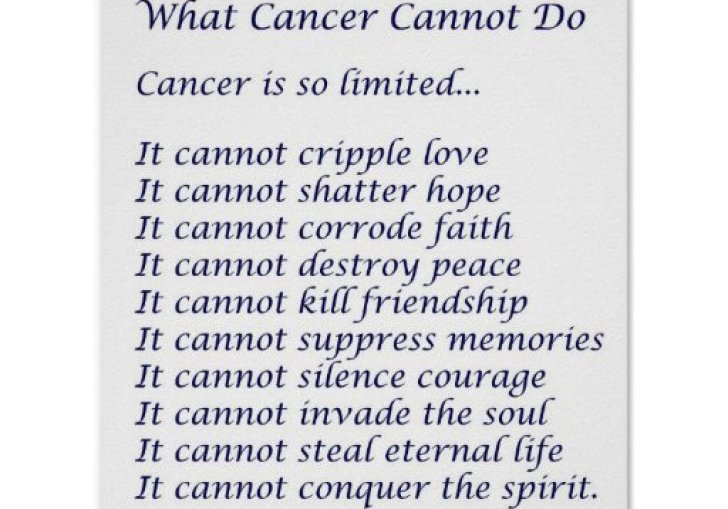 Printable What Cancer Cannot Do Poem