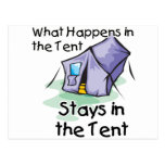 ❤️ What Happens in the Tent Postcard