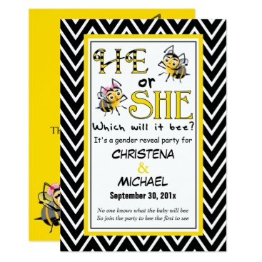 What Will It BEE Gender Reveal Invitation