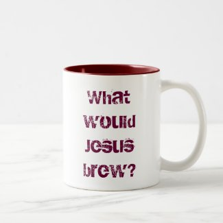 What would Jesus brew? dark red Mugs