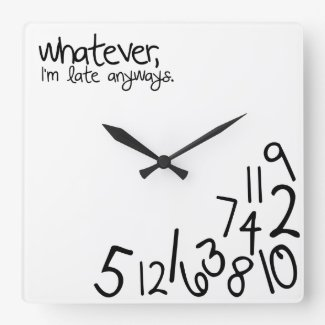whatever, i'm late anyways wallclocks