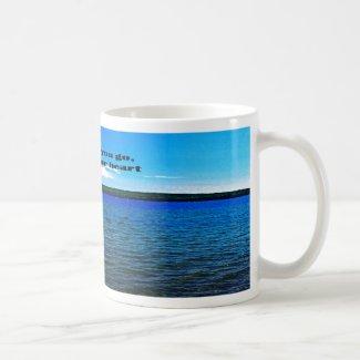 Where ever you go classic white coffee mug