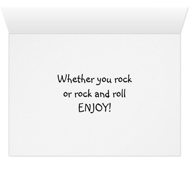 Rock Birthday Roll And Card Email