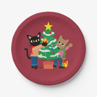 Whim and Sam's Christmas 7 Inch Paper Plate