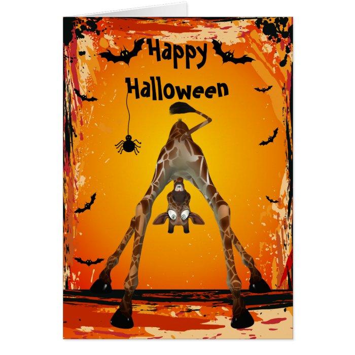 Whimsical Funny Giraffe Halloween Card Zazzle
