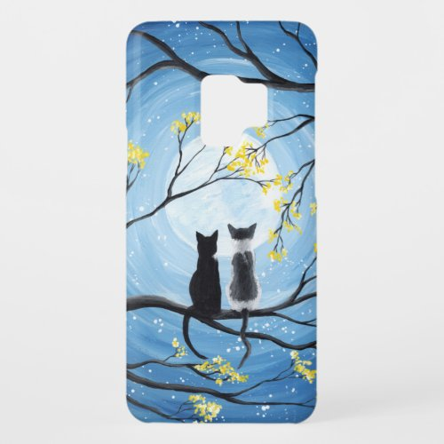 Whimsical Moon with Cats Case-Mate Samsung Galaxy S9 Case