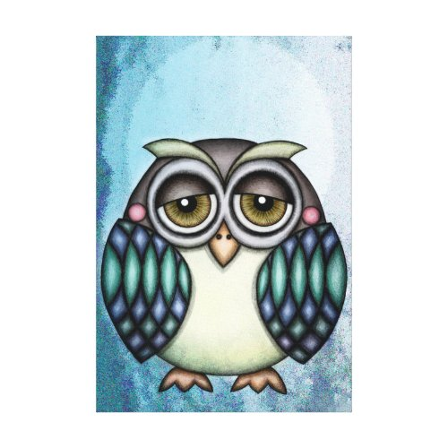 Whimsical Owl Canvas Print