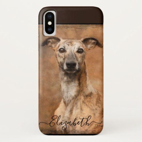 Whippet Dog Add Name iPhone XS Case