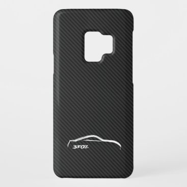 White 350Z Logo with Faux Carbon FIber Background Case-Mate Samsung Galaxy S9 Case