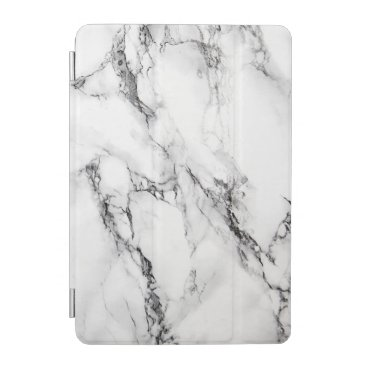 White And Gray Marble Pattern 2 iPad Mini Cover