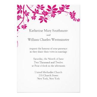 White And Honeysuckle Wedding Invitations