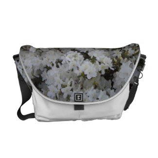 White Azaleas in Springtime Purse by CricketDiane rickshawmessengerbag