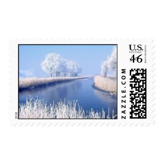 White Christmas stamp