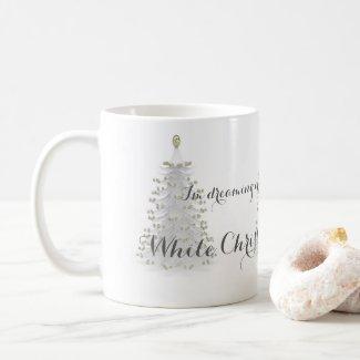 White Christmas Tree Holiday Coffee Mug