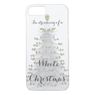 White Christmas Tree Holiday Phone Case
