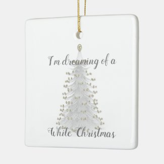 White Christmas Tree Ornament Holiday Gift
