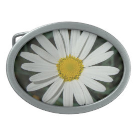 White Daisy - Belt Buckle