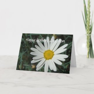 White Daisy - Mother's Day Customizable Card card