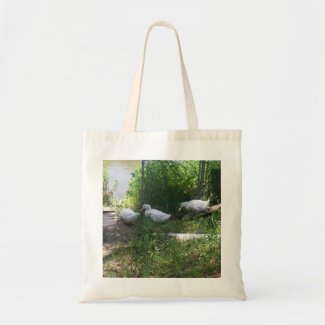 White Ducks on a Ramp Bag bag