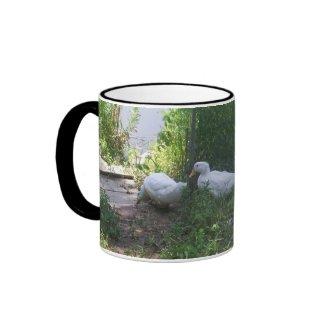 White Ducks on a Ramp Mug mug