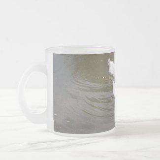 White Ducks Swimming Mug mug
