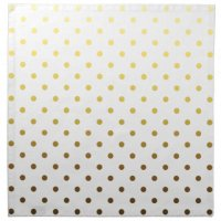 White And Gold: White And Gold Polka Dot Napkins